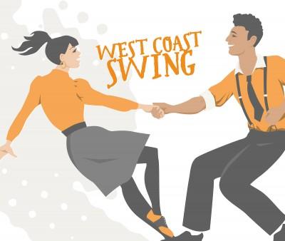 Grafik von zwei tanzenden Personen